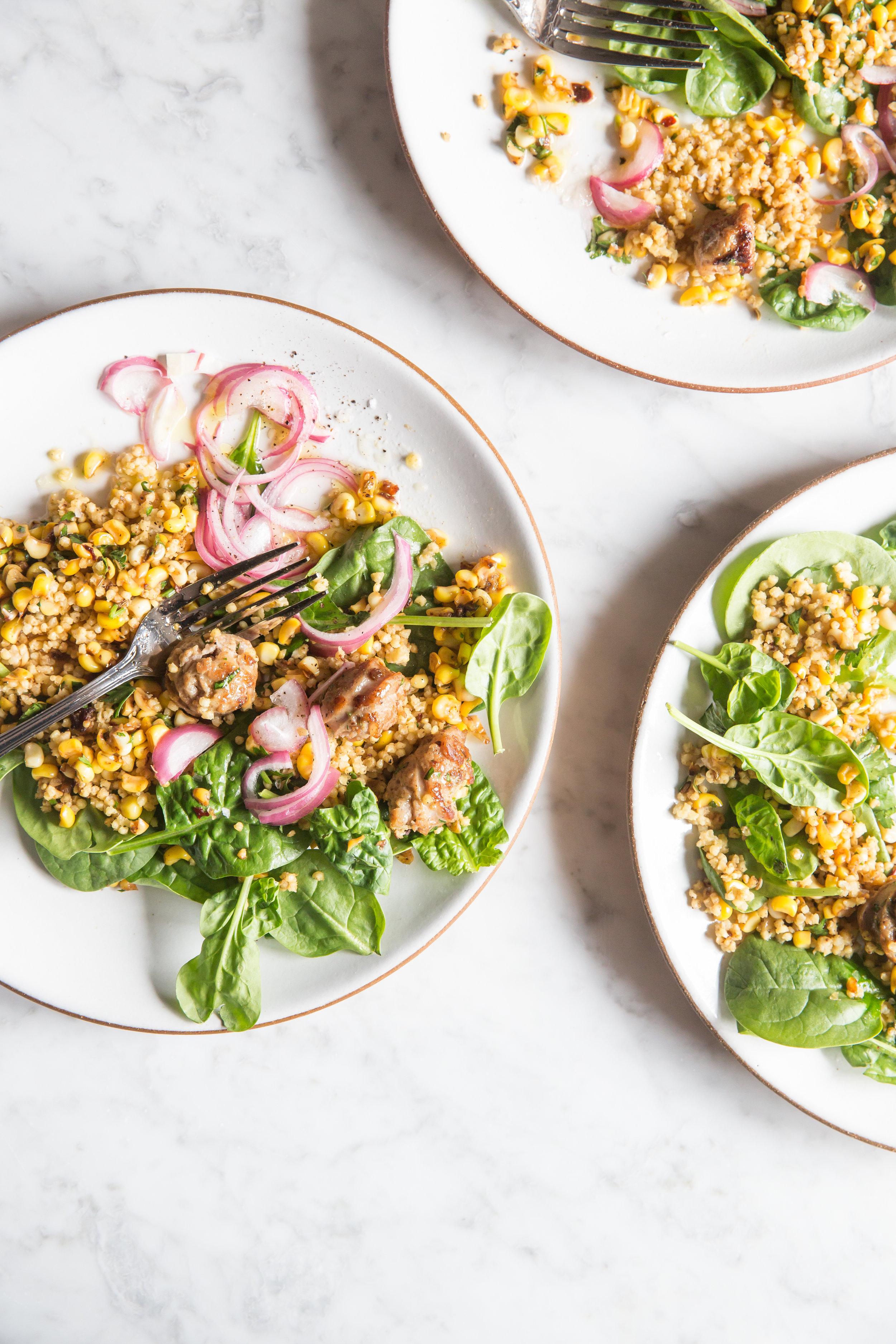 Sausage Corn Basil Millet Salad Oprah Magazine, Food Stylist Judy Kim