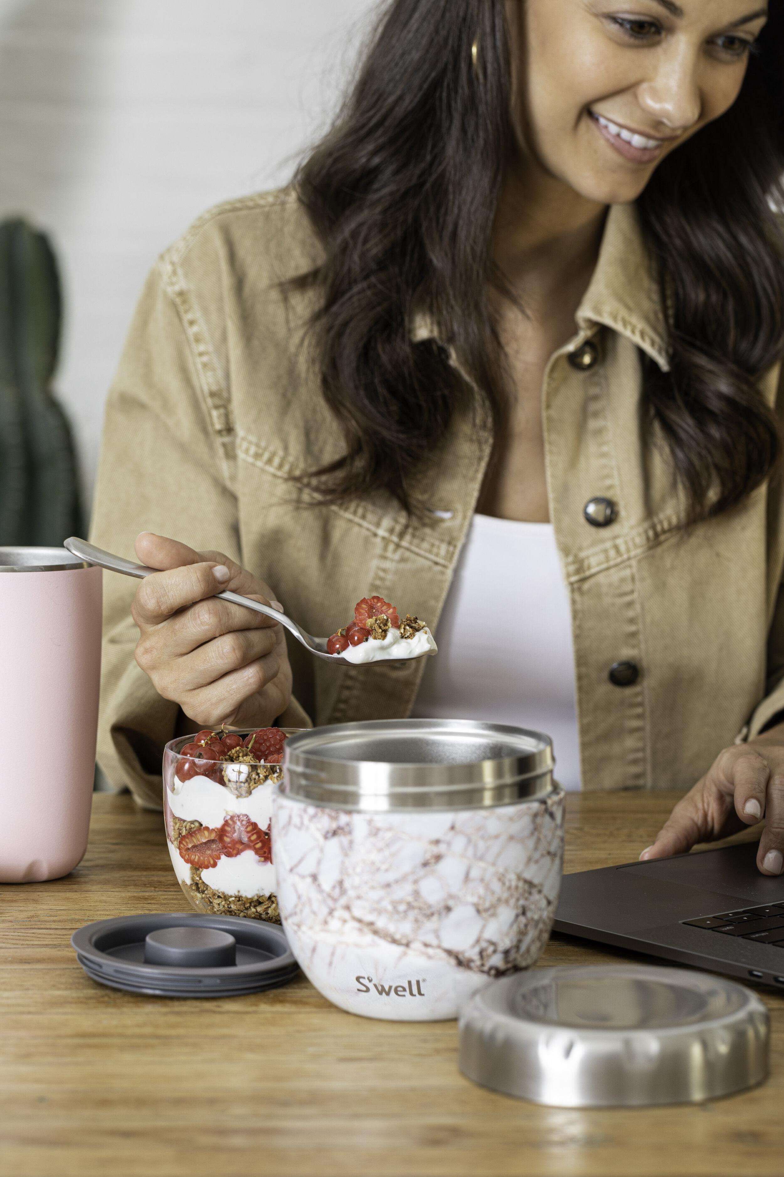 S'well Eats Raspberry Yogurt Parfait.  Photographer: Maria Midoes, Food Stylist: Judy Kim , Prop Stylist: Maya Rossi