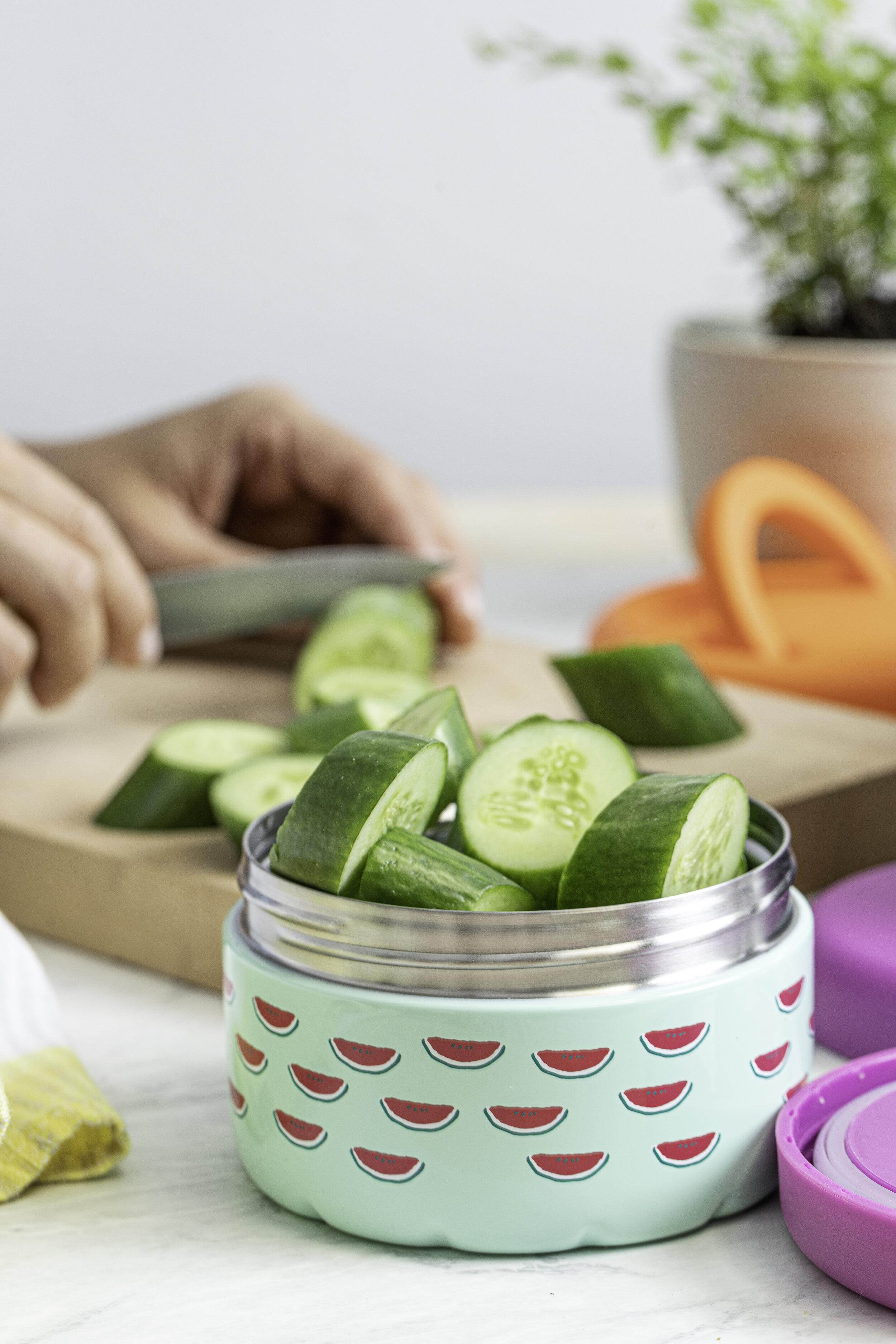 S'well Eats School Snacks, Cucumbers,  Photographer: Maria Midoes, Food Stylist: Judy Kim , Prop Stylist: Maya Rossi1