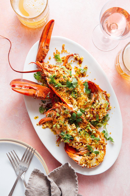 Sel Rrose Montauk, Ginger Scallion Lobster, Photo Mackenzie Smith Kelley, Food Stylist Judy Kim