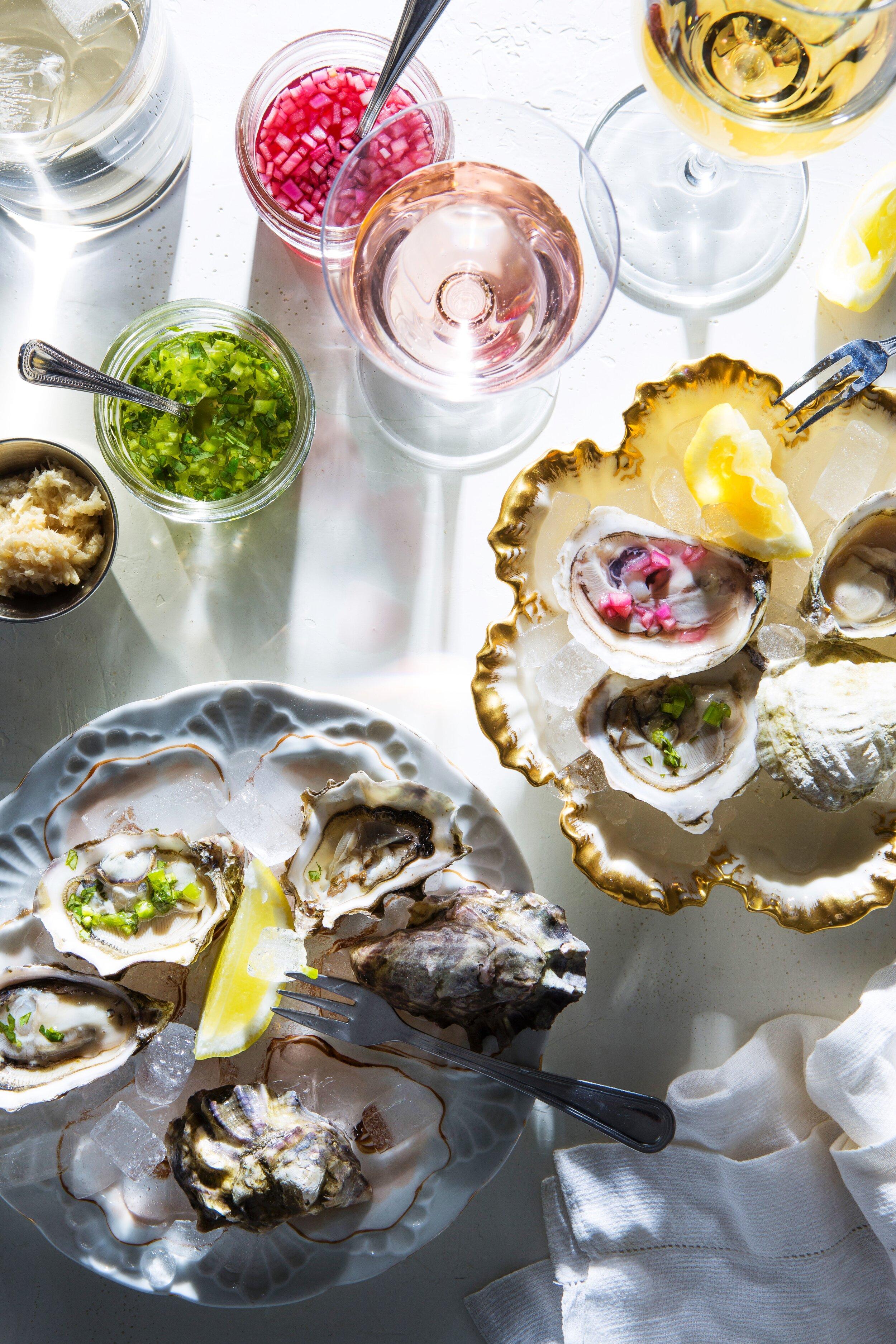 Sel Rrose Montauk, Oyster Happy Hour, Photo Mackenzie Smith Kelley, Food Stylist Judy Kim