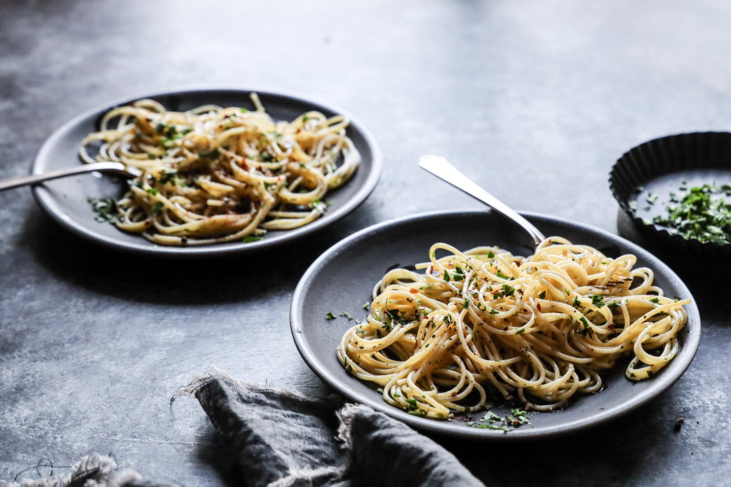 James Beard Aglio e Olio_Food Stylist Judy Kim