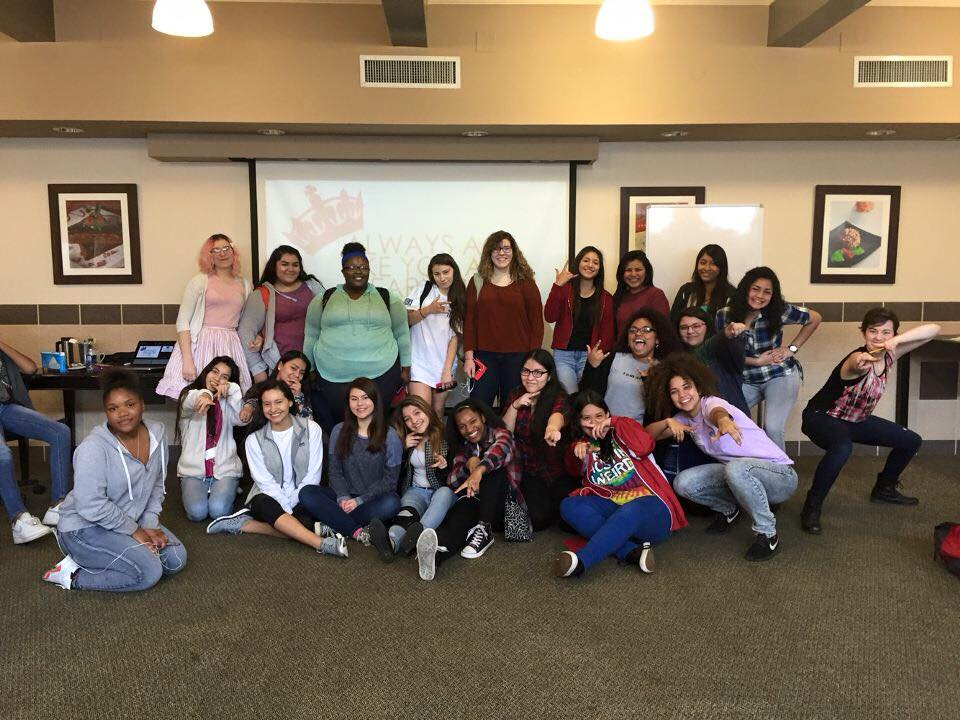 "Queen ""Be"" Project workshop at Travis Early College High School"