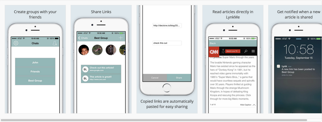 This is LynkMe! (App Store approval pending)