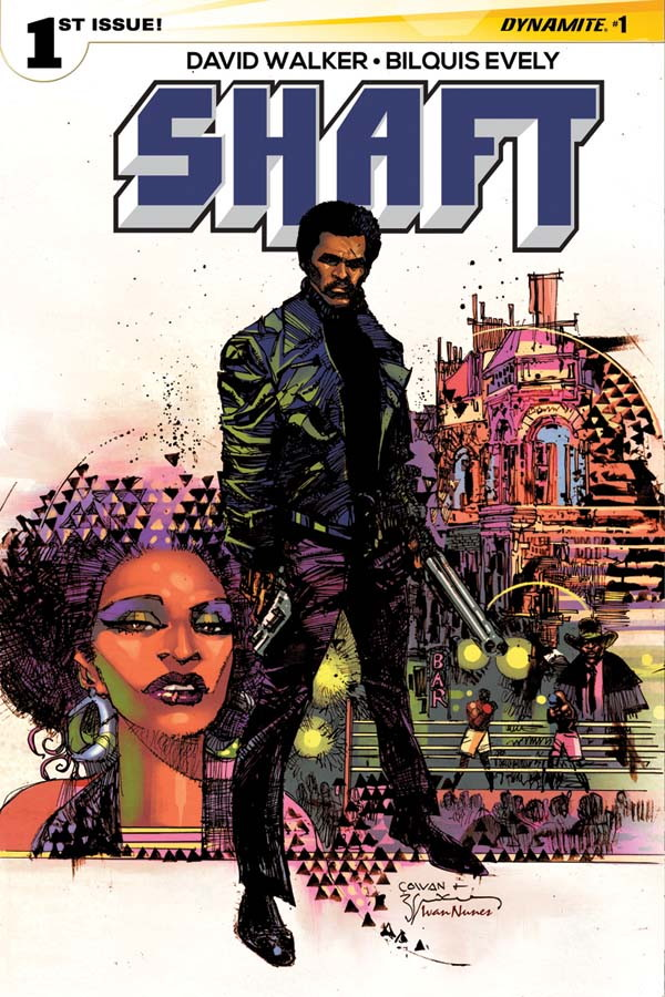 Cover to  Shaft  #1 by Denys Cowan and Bill Sienkiewicz