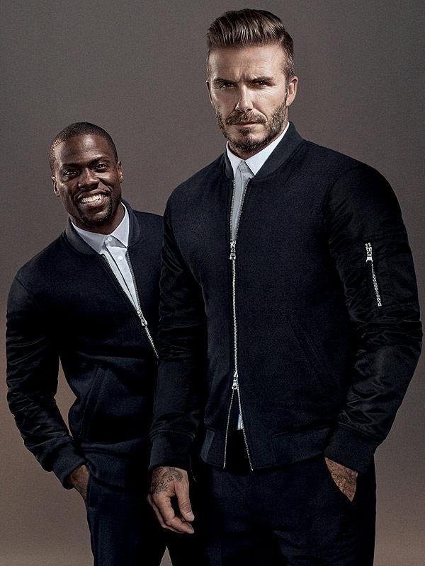 David Beckham and his lookalike, Kevin Hart.