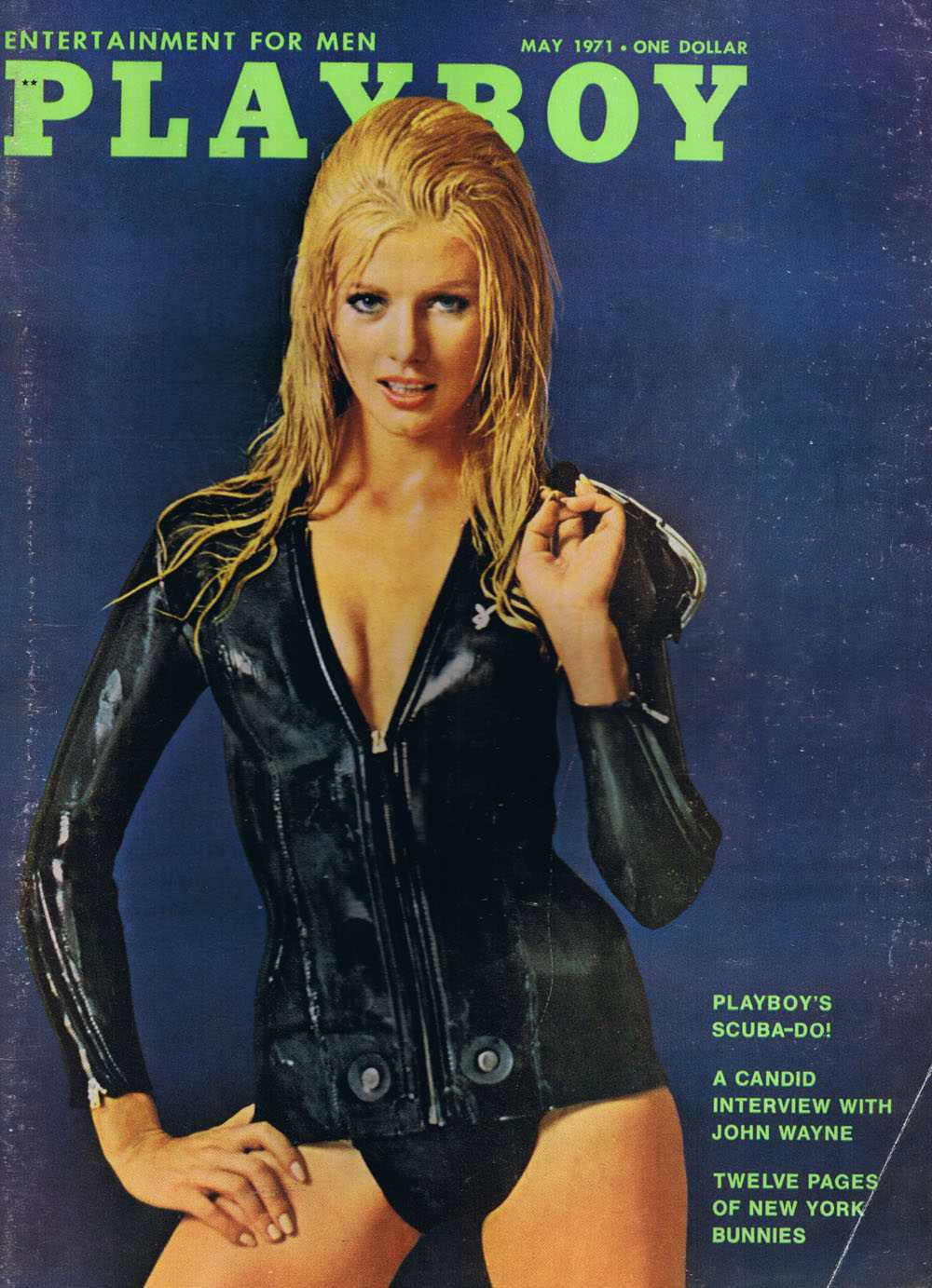 Cover of  Playboy , May 1971 featuring the John Wayne interview.
