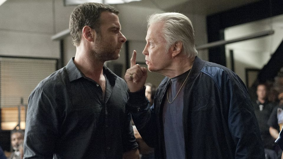 A typical father and son 'chat' on  Ray Donovan .