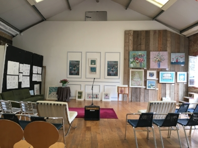 Studios ready complete with Charlotte Hardy's art work