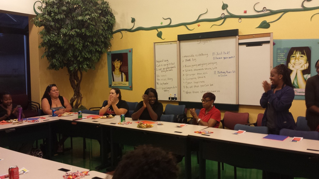 Monthly meetings play an important role in the Healthy Families Orange program.