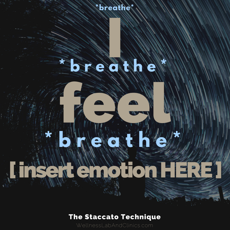 Use the Staccato Technique to increase emotional intelligence and mindfulness; it is a cross-generational and cross-cultural mindfulness exercise designed to aid in cultivating awareness and help develop discernment even during the most distressing events and experiences.