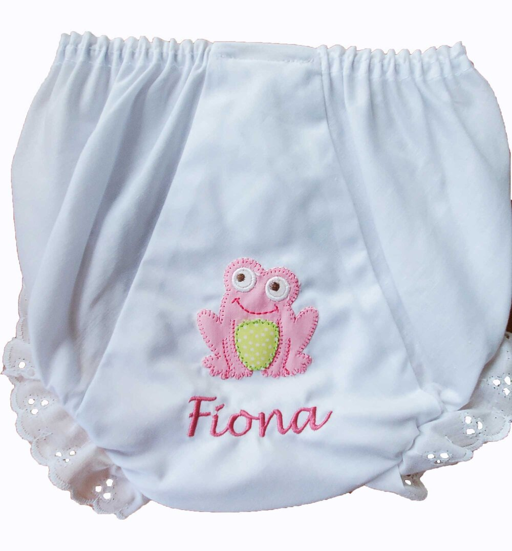 Monogrammed Mermaid Baby Bloomers Personalized Shell Nautical Diaper Cover