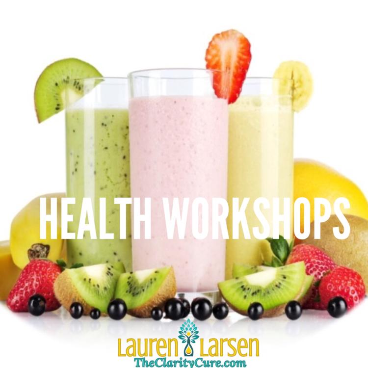 shop-health-coaching-mini-workshops | The Clarity Cure | Lauren Larsen
