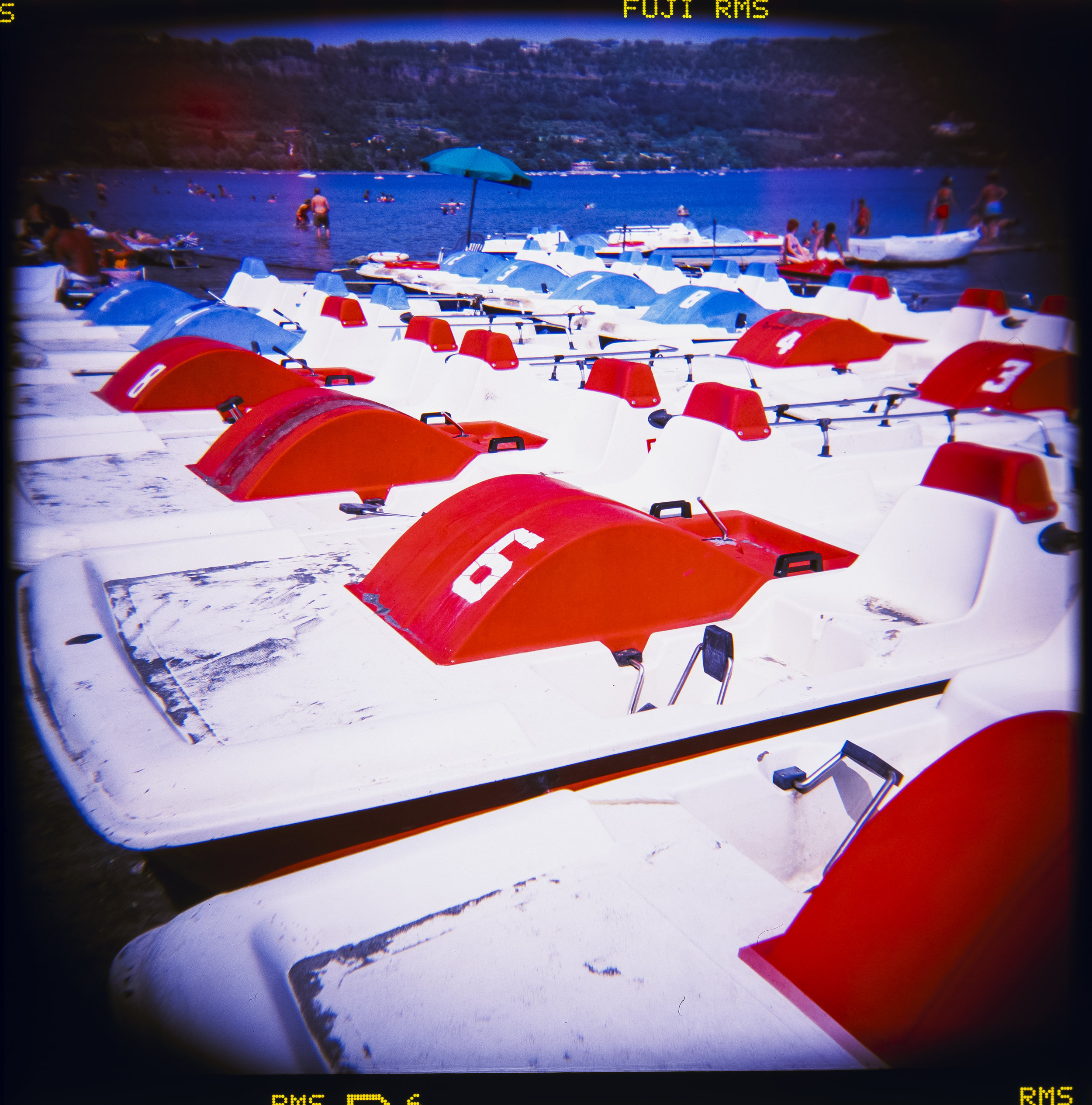 Peddle Boats, Italian Beach, Holga