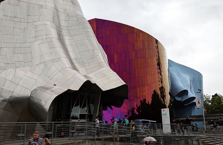 Seattle's MoPOP Museum (formerly EMP) by Frank Gehry