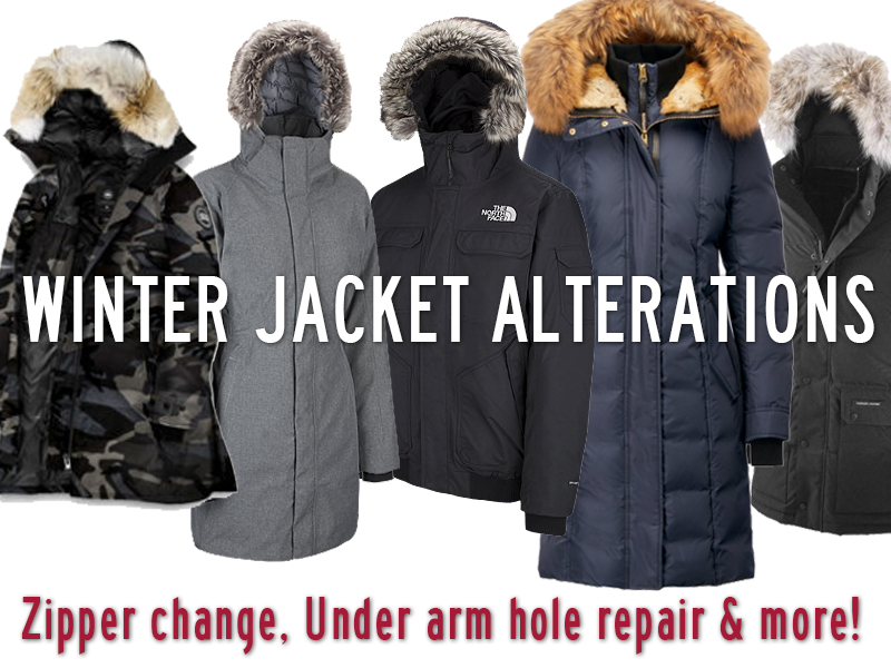 We do all kinds of winter jackets, parkers, paddings and more.  Repair your expensive winter outerwear and save money!
