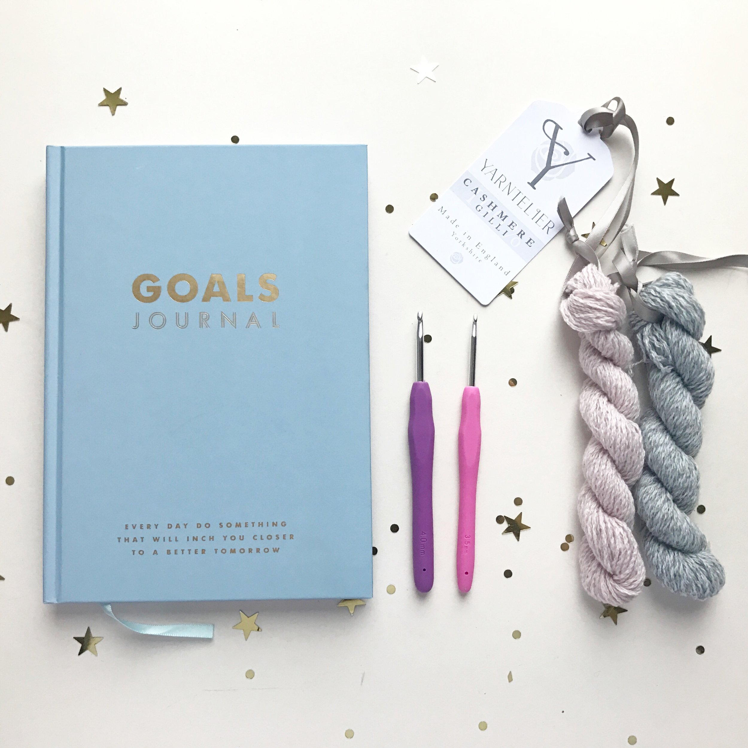Goal Journal  Kikki-K    Crochet Hooks   Clover Amour     Cashmere Lace  Y  arntelier