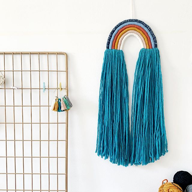 Exciting announcement!!! This is my collaboration with @sassandme I've created 4 styles of rainbow tassel wall hangings (swipe to see others colour ways and sizes) and head over to @sassandme website for more details 🤩✨💗 #ewjewellerydesign #sassandme
