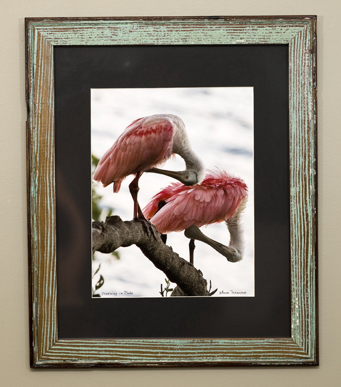 Double matted luster print framed with bead board from the Belleview Biltmore Hotel, in Belleair, FL, circa late 1890s.