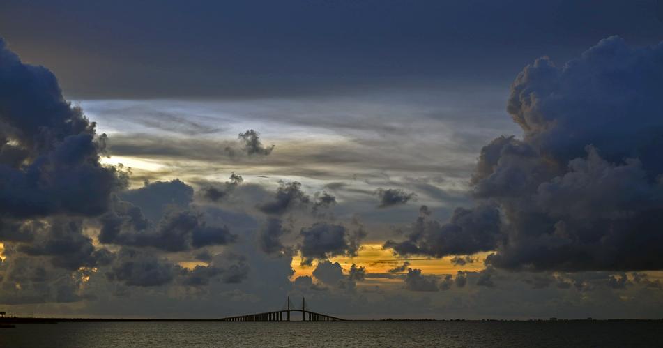 The Sunshine Skyway. Tampa Bay, Fla.