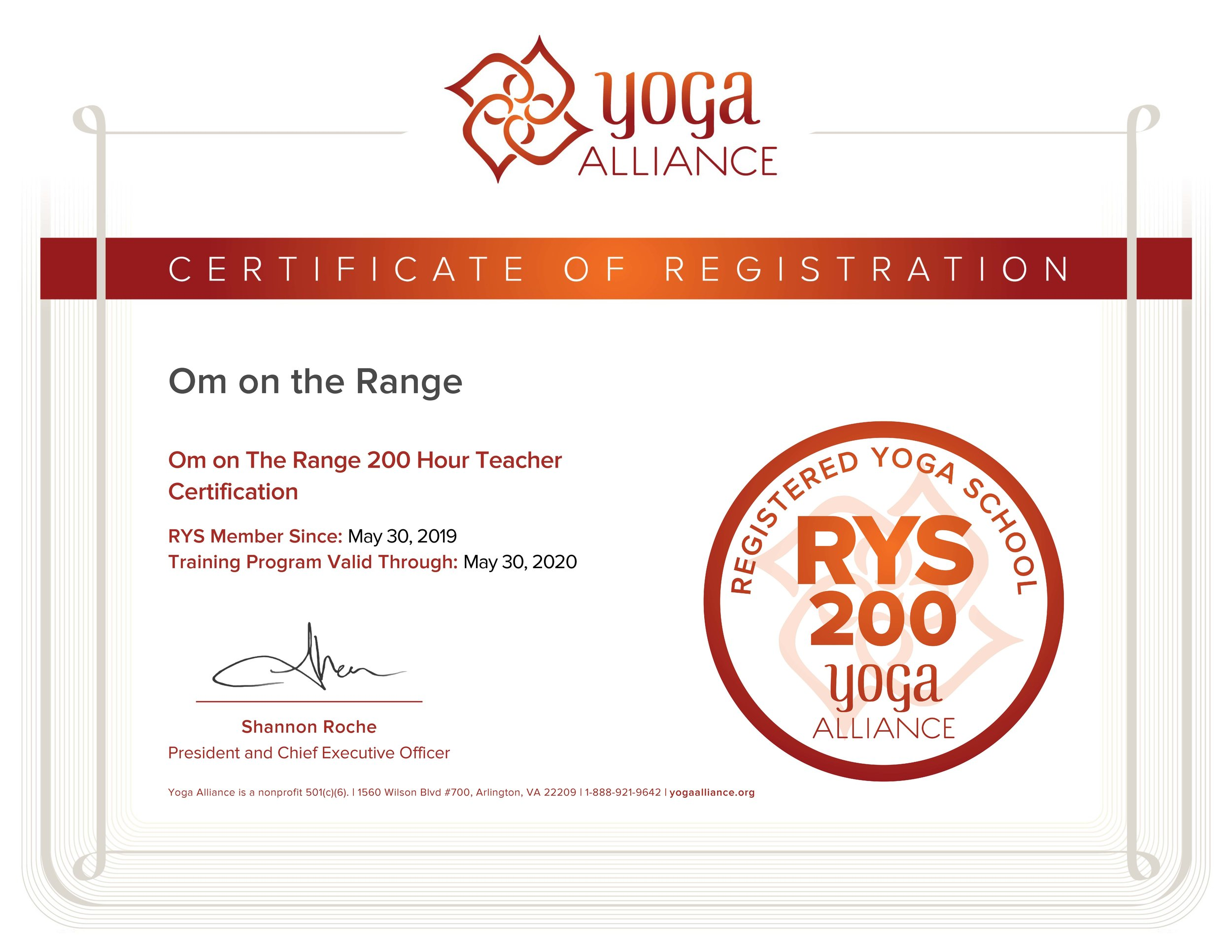 Om on The Range 200 Hour Teacher Certification Certificate.jpg