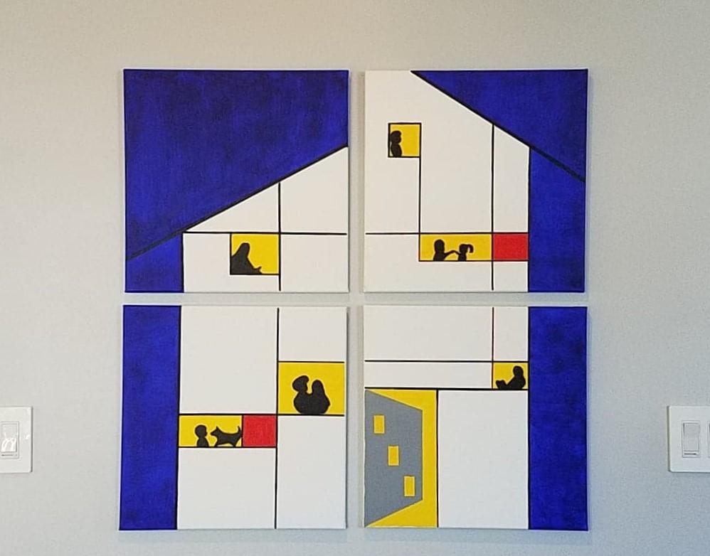 Acrylic Abstract/Geometric