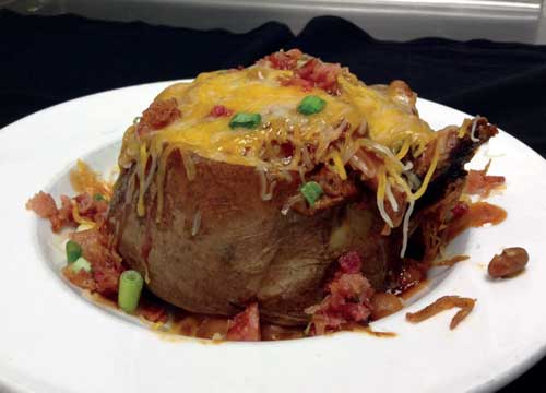 smokehouse spud at stone mill bbq and steakhouse