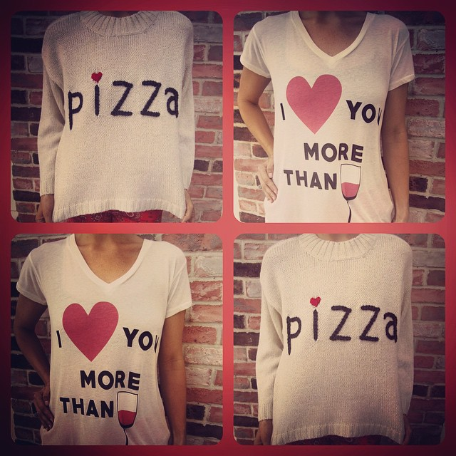 Did someone say breakfast? We love @wildfoxcouture more than wine and pizza!!!.... #pizza #wine #WILDFOX #newarrivals #fallfavorites #fallinlove #iloveyou #sweaterweather