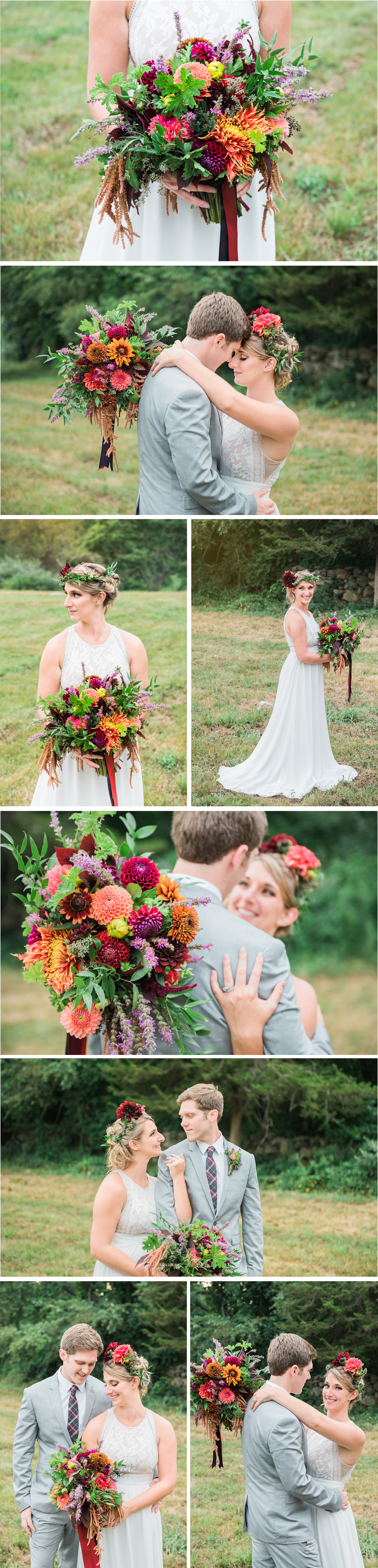 Connecticut Boho Bridal Wedding