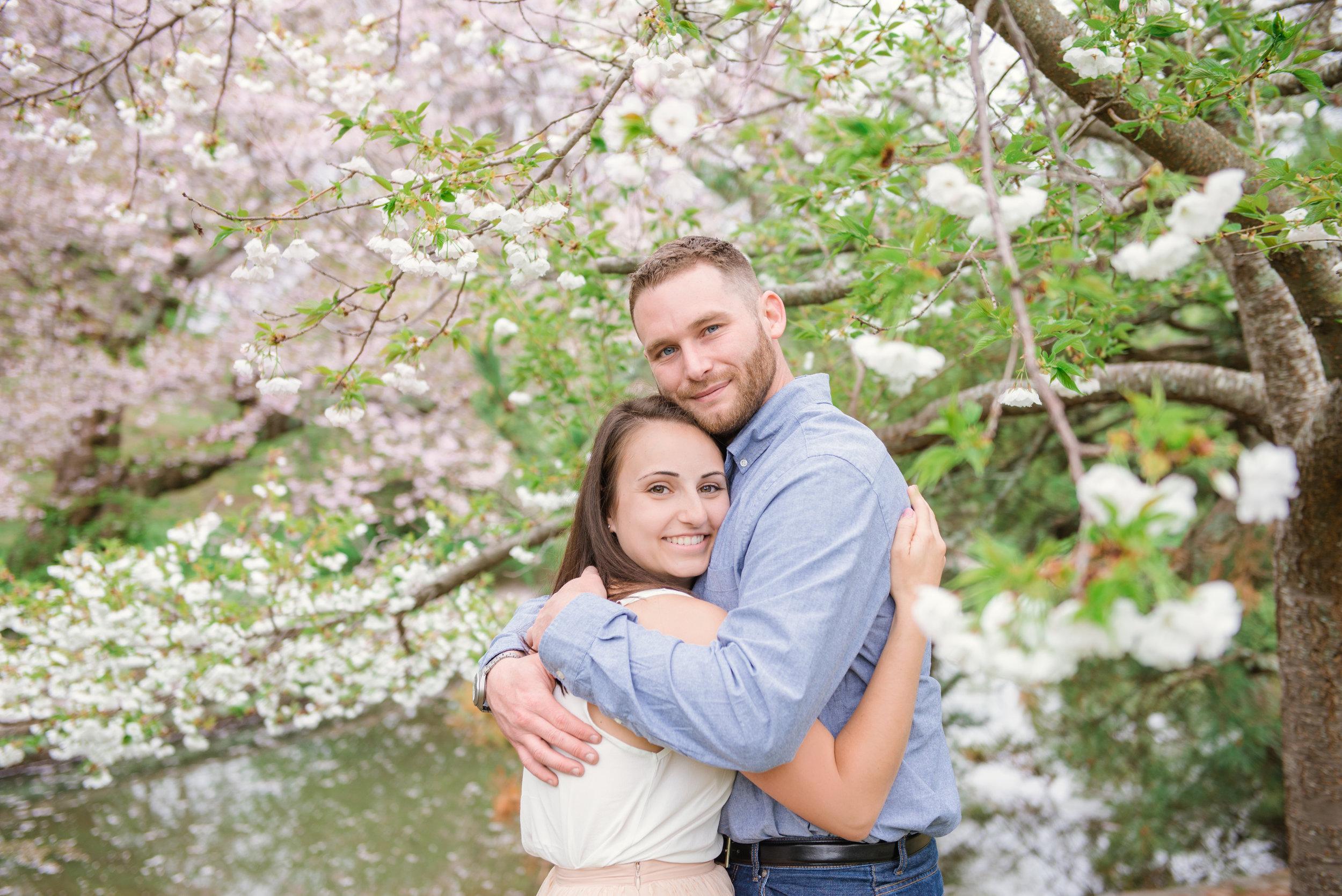 Romantic Engagment Roger Williams Park Cherry Blossom Trees Rhode Island Wedding Photographer.jpg