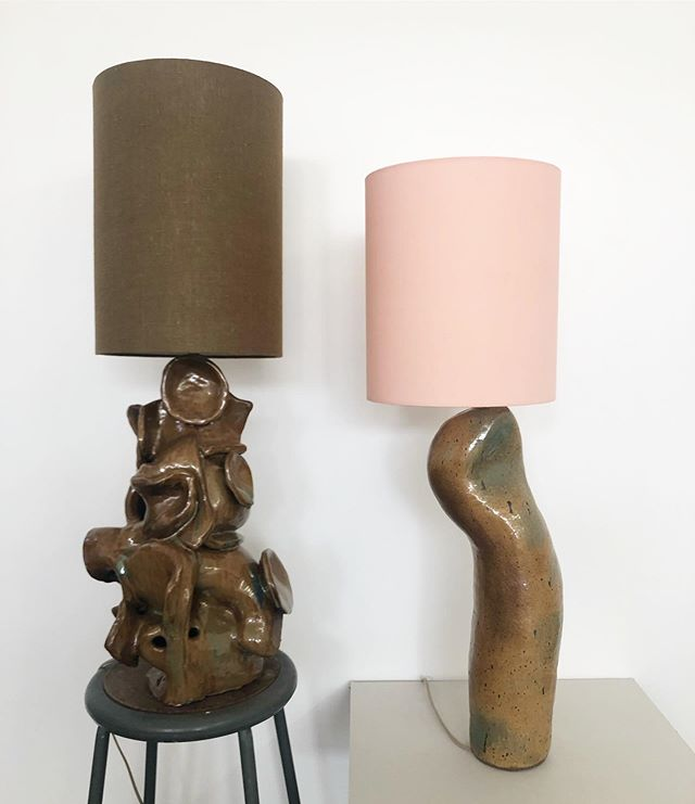 New glaze new shapes #ceramiclamps