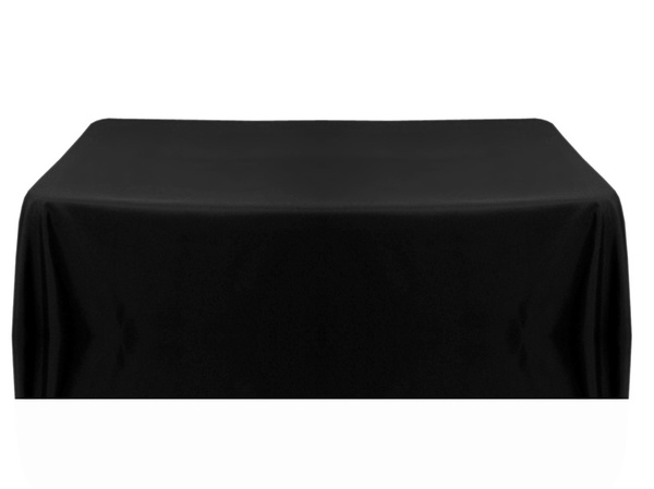 Black rectangle 3m x 180cm table cloth hire