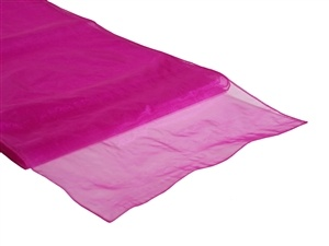 Fuchsia Organza Table Runner Hire