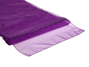 Purple Organza Table Runner Hire