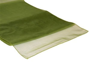 Willow Green Organza Table Runner Hire