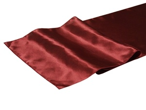 Burgundy Satin Table Runner Hire