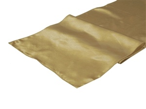Champagne Satin Table Runner Hire