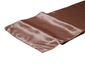 Dusty Pink Satin Table Runner Hire
