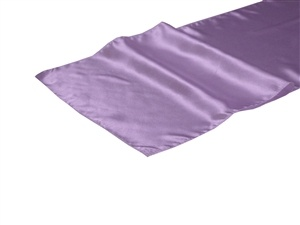 Lilac Satin Table Runner Hire
