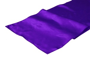 Purple Satin Table Runner Hire