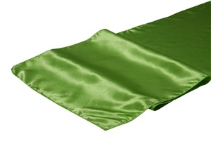 Willow Green Satin Table Runner Hire