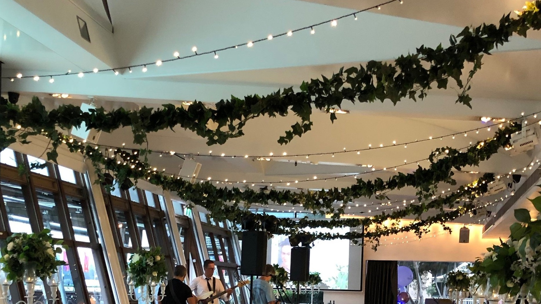 Fairy lights with ivy by Fairytale Events - LaAqua Dockside Group