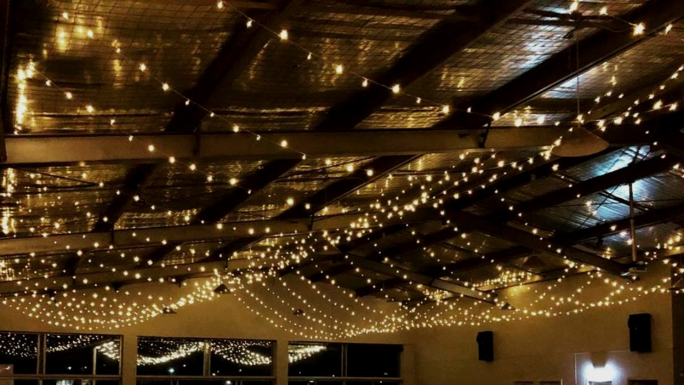 Horizontal fairy light installation by Fairytale Events - Hunters Hill Sailing Club