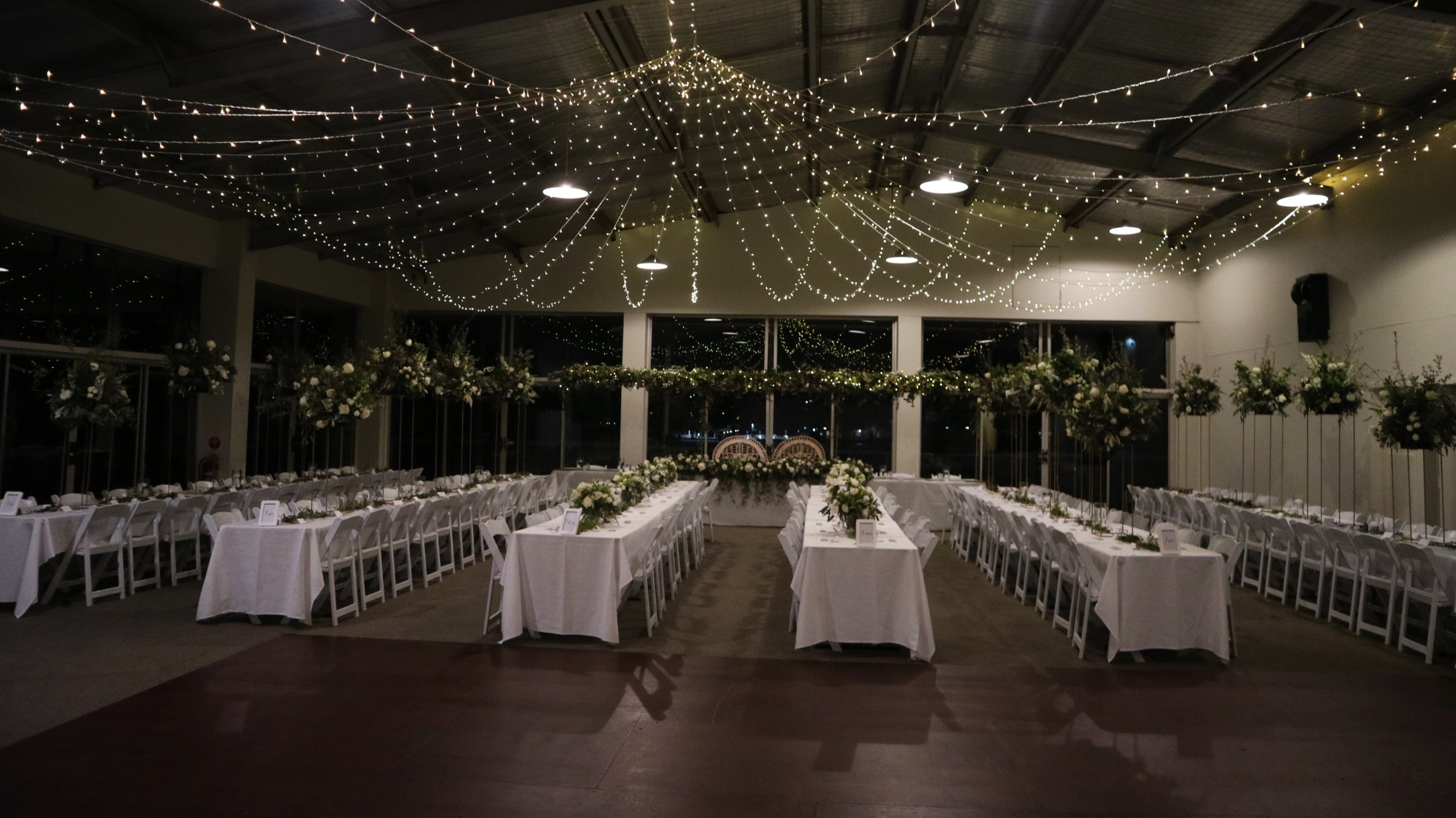 Star shaped canopy of fairy lights by Fairytale Events - Hunters Hill Sailing Club