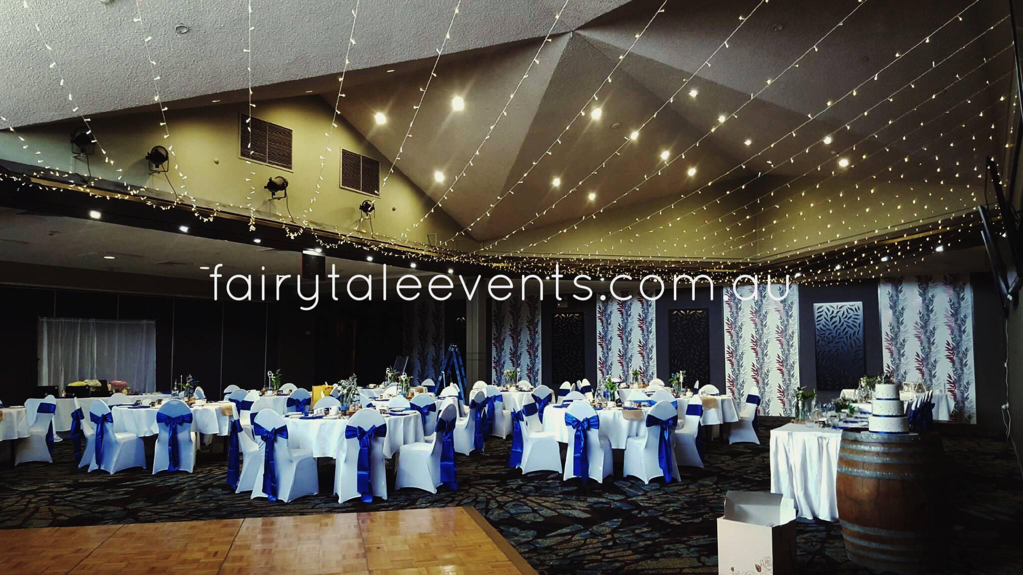 Horizontal fairy light canopy by Fairytale Events - Panania Diggers RSL
