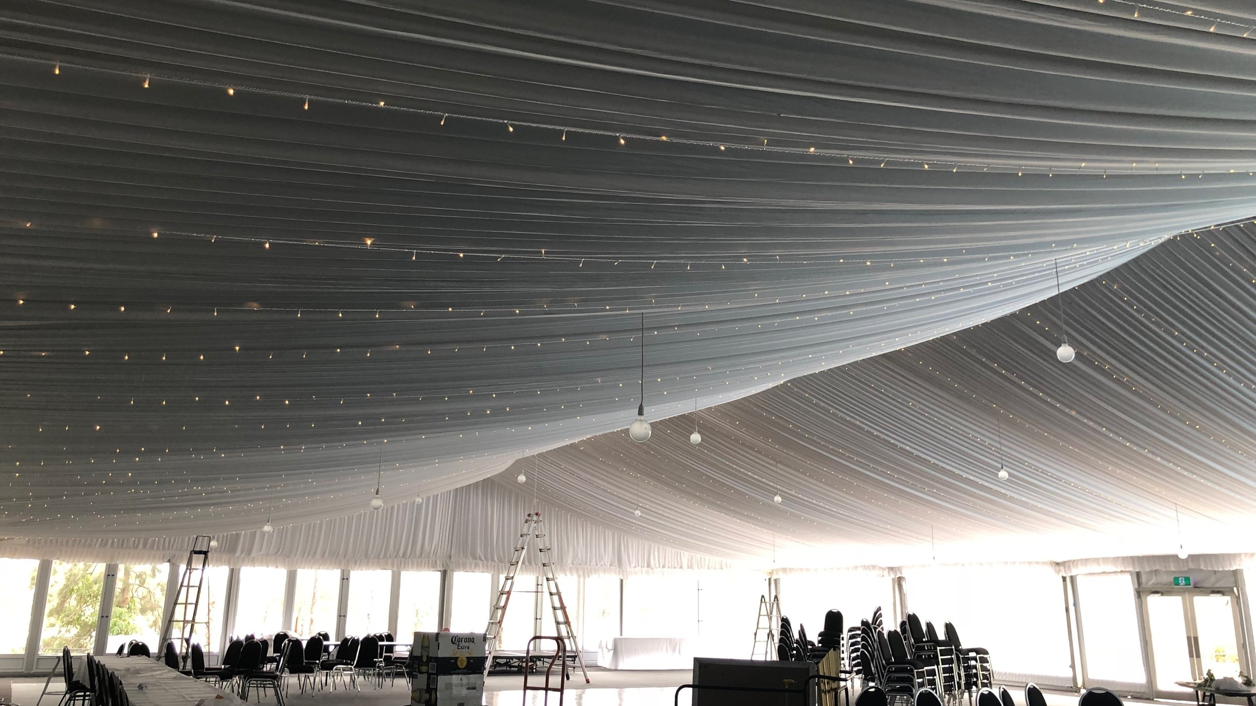 Horizontal fairy light canopy by Fairytale Events - Cypress Lakes Hunter Valley