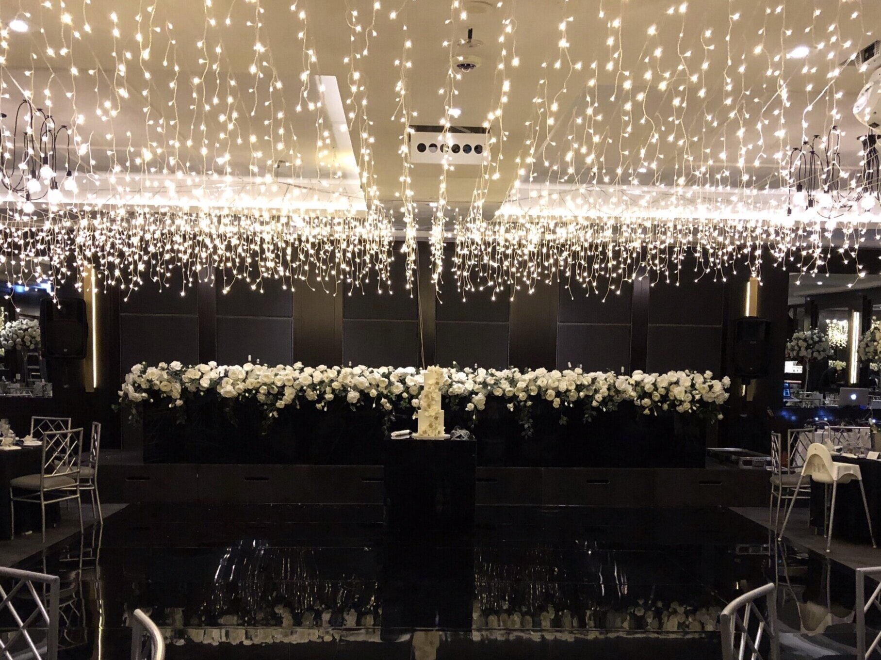 Icicle dance floor ceiling canopy by Fairytale Events - LeMontage The Gallery