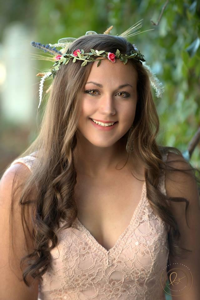 Model: Rachel Elizabeth wearing a Gee June head piece! Rachel will be wearing this head piece for her Homecoming dance next month!