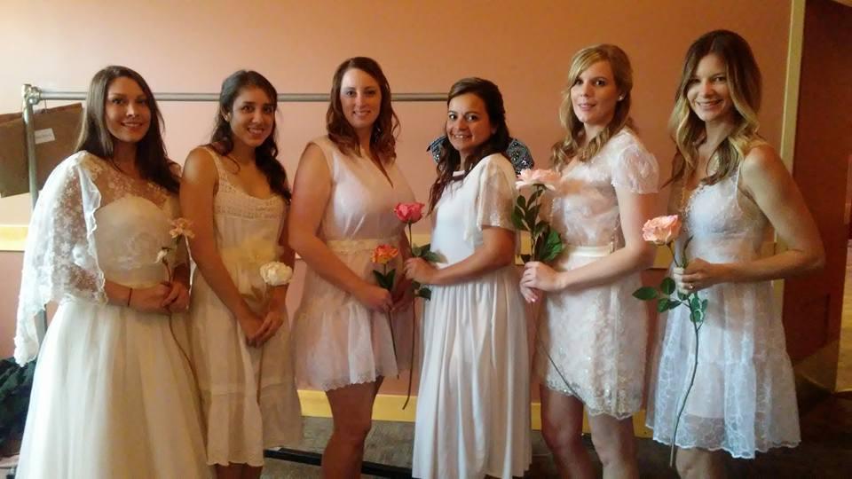 Models from left to right: Cassie Burhans, Sara Luciano, Jennifer Clarke, Adeline Montalvo, Chelsea Little, and Loganne Gregg-Eaton!