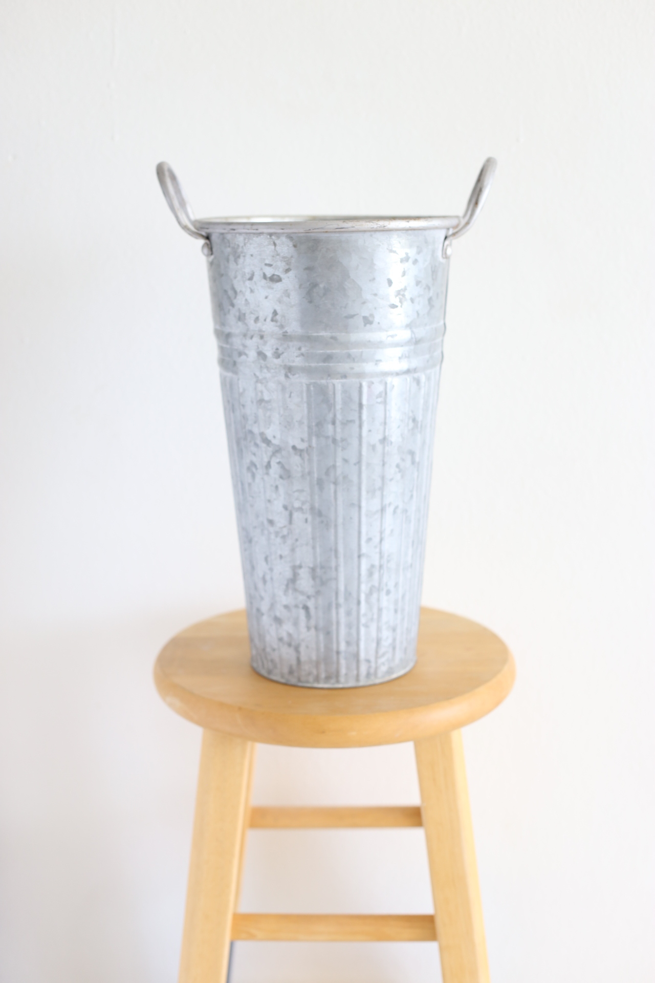 "galvanized bucket - 14"" x 8"""